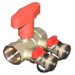 Užpildymo/išleidimo mazgas su rutuliniais ventiliais